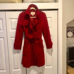 banana republic red wool coat